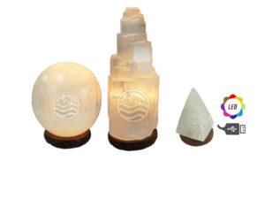 Selenita. Lámparas y otros productos